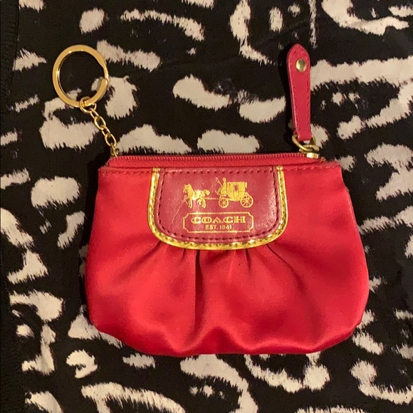 Hot pink coin purse